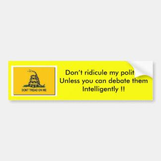 Political debate bumper sticker