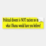 Political Dissent Bumper Sticker