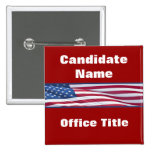 Political Election Campaign Button Template