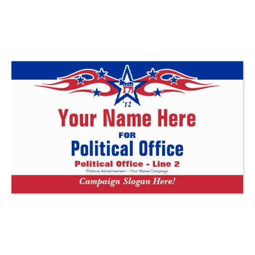 Political Election Campaign Card - Democrat Business Card Template
