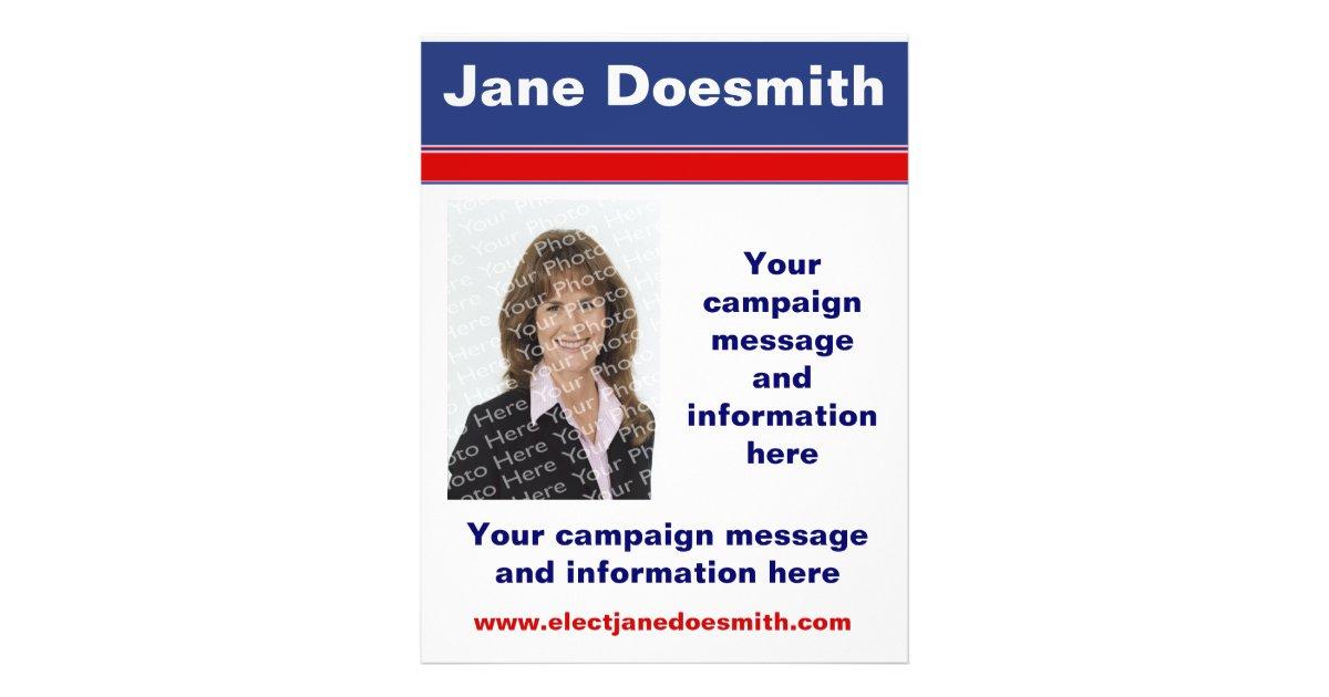 Political Election Campaign Flyer Template Zazzle