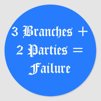 Political Failure Round Sticker