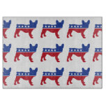 Political Frenchie Cutting Boards