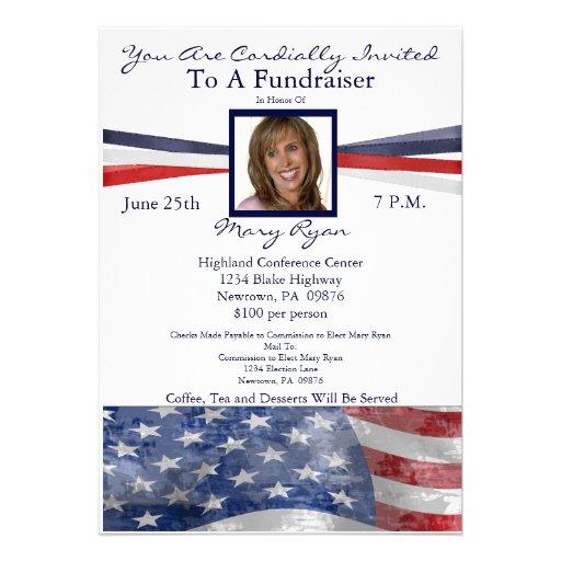 personalized political fundraiser invites invitations