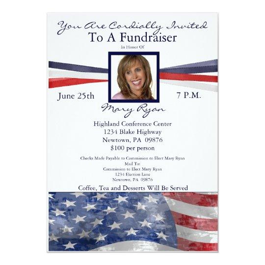 Political Fundraiser Invitation With Photo | Zazzle.com