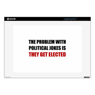 Political Jokes Elected Laptop Decal