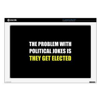 Political Jokes Elected Laptop Skin