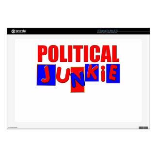 "Political Junkie 17"" Laptop Decal"