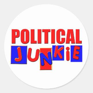 Political Junkie Classic Round Sticker