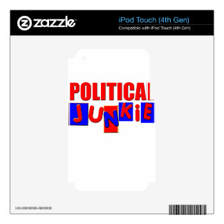 Political Junkie iPod Touch 4G Decal