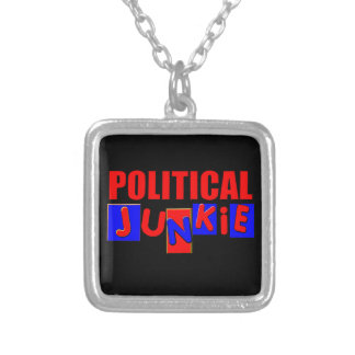 Political Junkie Silver Plated Necklace