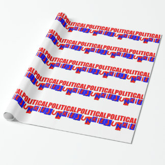 Political Junkie Wrapping Paper