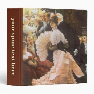 Political Lady by James Tissot, Vintage Victorian Vinyl Binder