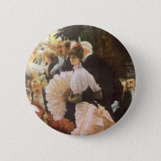 Political Lady by James Tissot, Vintage Victorian Button