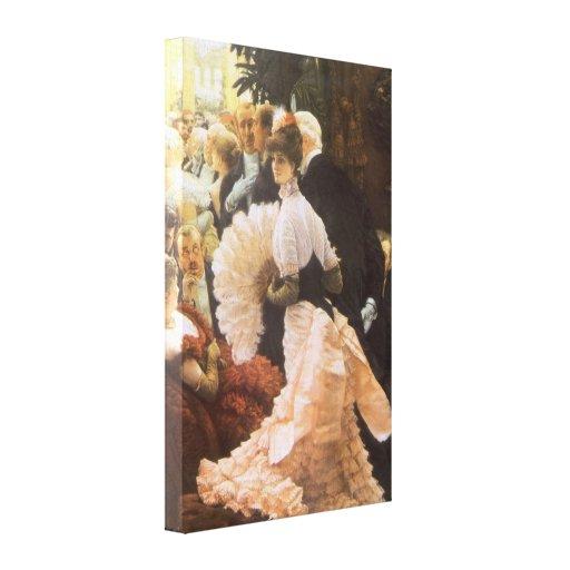 Political Lady by James Tissot, Vintage Victorian Canvas Prints