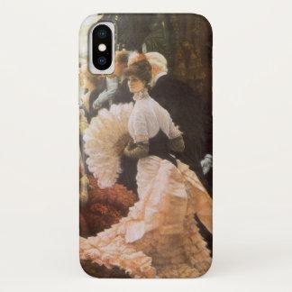 Political Lady by James Tissot, Vintage Victorian iPhone X Case