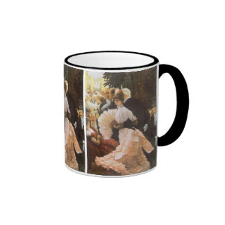 Political Lady by James Tissot, Vintage Victorian Coffee Mug