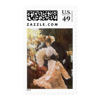 Political Lady by James Tissot, Vintage Victorian Postage