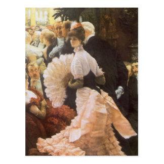 Political Lady by James Tissot, Vintage Victorian Postcard
