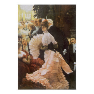 Political Lady by James Tissot, Vintage Victorian Poster