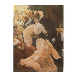 Political Lady by James Tissot, Vintage Victorian Wood Wall Decor
