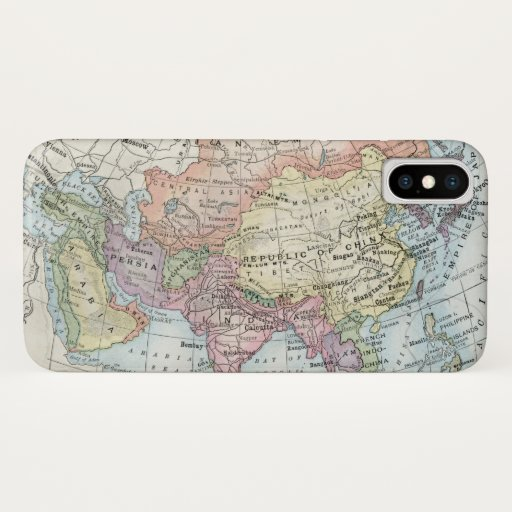 Political Map of Asia (1916) iPhone X Case