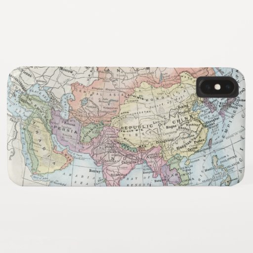 Political Map of Asia (1916) iPhone XS Max Case