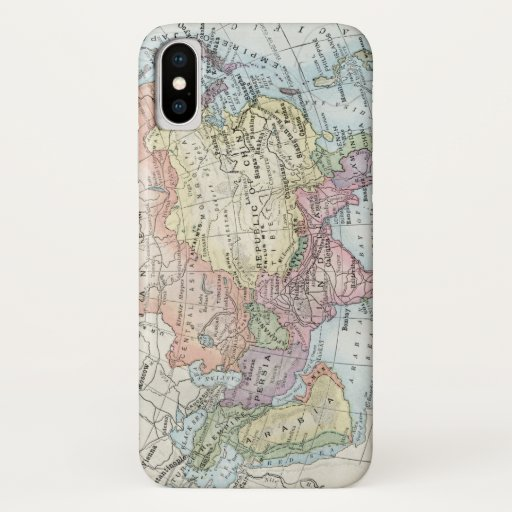 Political Map of Asia (1916) iPhone XS Case