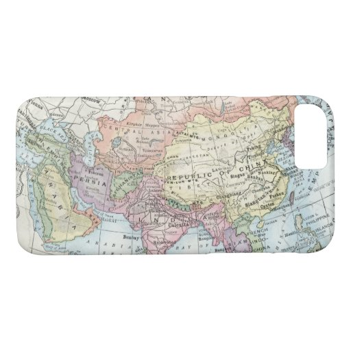 Political Map of Asia (1916) iPhone 8/7 Case