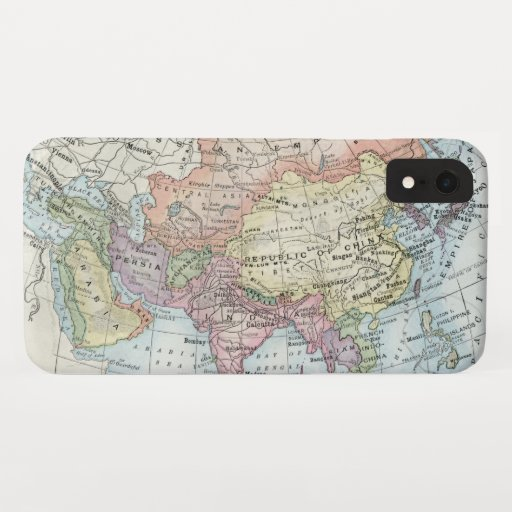 Political Map of Asia (1916) iPhone XR Case