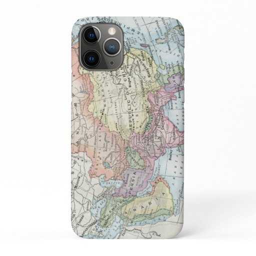Political Map of Asia (1916) iPhone 11 Pro Case