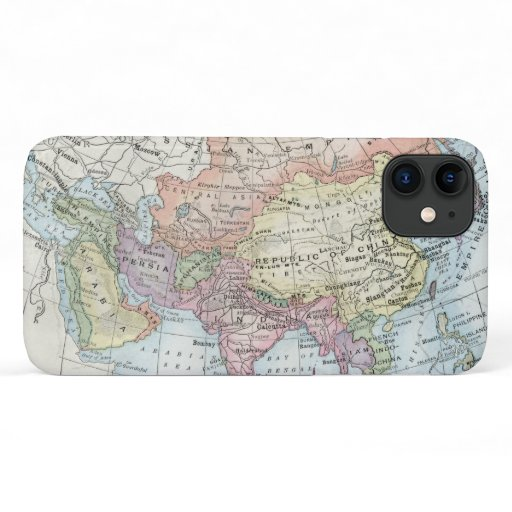 Political Map of Asia (1916) iPhone 11 Case
