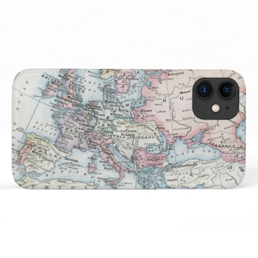 Political Map of Europe (1916) iPhone 11 Case