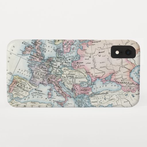 Political Map of Europe (1916) iPhone XR Case