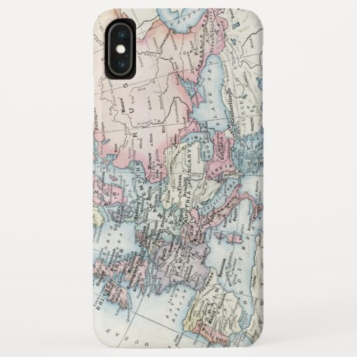 Political Map of Europe (1916) iPhone XS Max Case