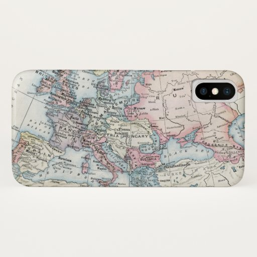 Political Map of Europe (1916) iPhone X Case