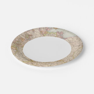 Political Map of Germany Paper Plate