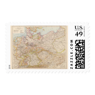 Political Map of Germany Postage