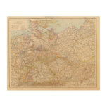 Political Map of Germany Wood Wall Art