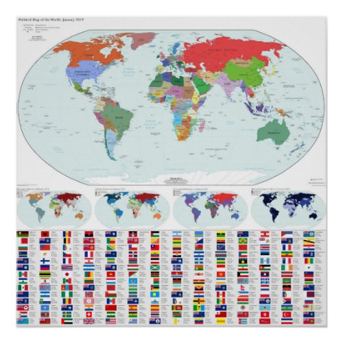 Political Map of the World, 2019 (Our Fair Country