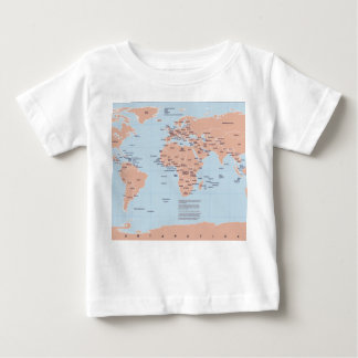 Political Map of the World Baby T-Shirt