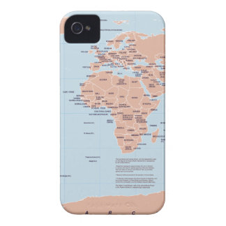 Political Map of the World Case-Mate iPhone 4 Case