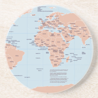 Political Map of the World Drink Coaster