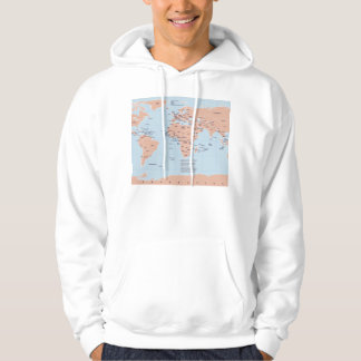 Political Map of the World Hoodie