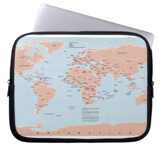 Political Map of the World Laptop Computer Sleeve