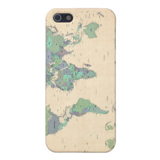 Political Map of the World Map iPhone SE/5/5s Case