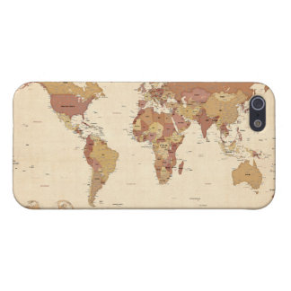 Political Map of the World Map iPhone SE/5/5s Cover
