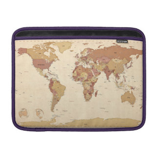 Political Map of the World Map MacBook Air Sleeve
