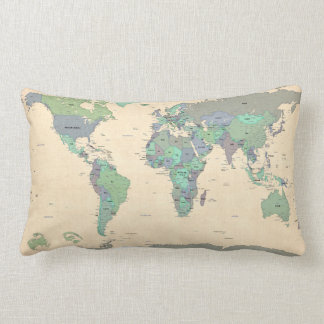 Political Map of the World Map Pillow