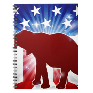 Political Mascot Republican Elephant Notebook